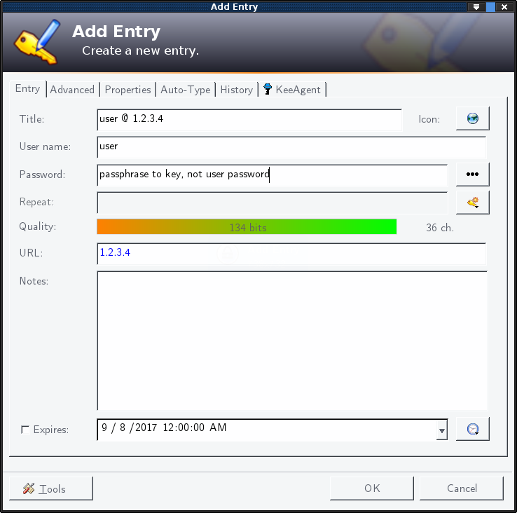 keepass-add-entry